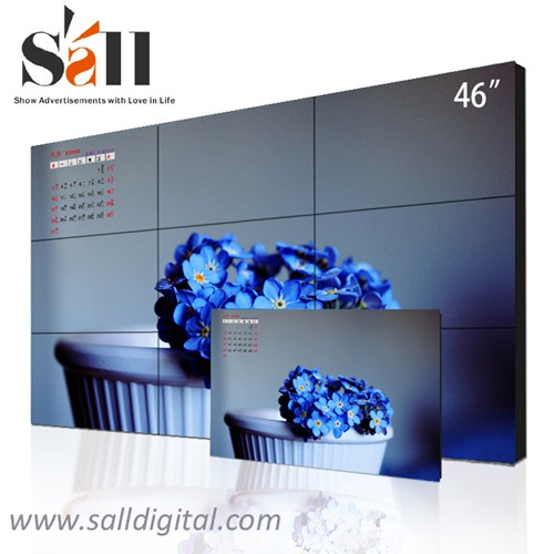 46 Inch 3x3 lcd video wall ultra narrow bezel lcd video wall (SL-VW460)